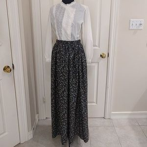 Vintage Strawberry 1970s Polyester Maxi Skirt EUC